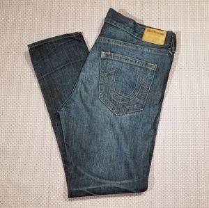 "True Religion ""Dean"" Tapered Leg Mens Jean's Sz 38"